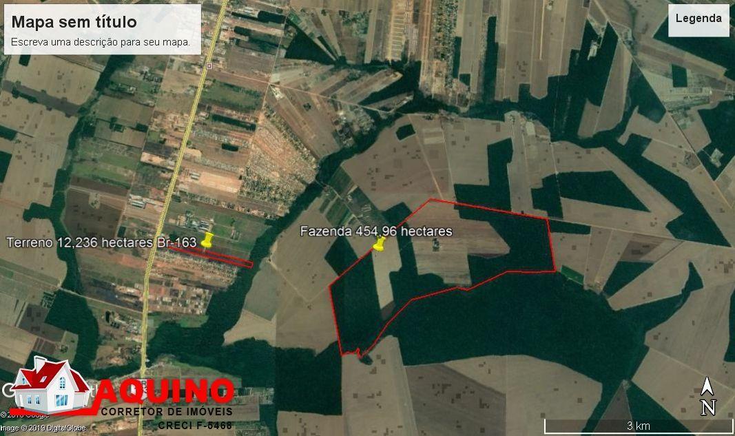 Fazenda a venda com 454,96 hectares na Zona Rural em Sinop/MT