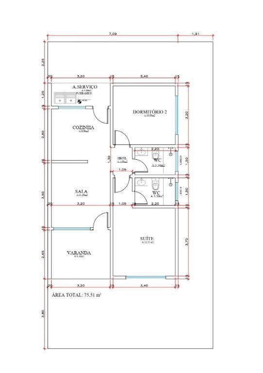 Casa com 02 dormitórios, sendo 01 suíte à venda, 75 m² por R$ 190.000 - Geral - Sinop/MT